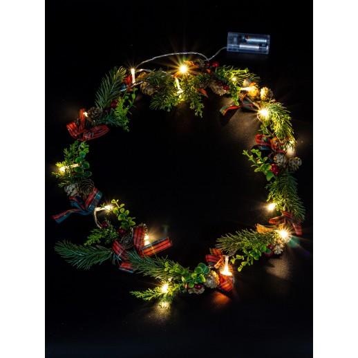 """Светодиодная гирлянда """"Рождественный венок"""" ArtStyle CL-N204WW"""