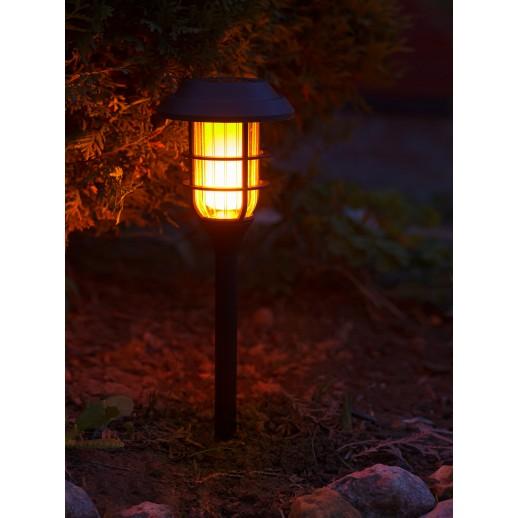 Cветодиодный садовый светильник-фонарь с солнечной батареей, CL-S15F, черный