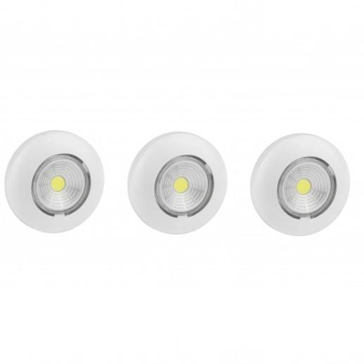 Светодиодный самоклеящийся фонарь-подсветка REV Pushlight 3Pack белый