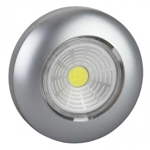 Светодиодный самоклеящийся фонарь-подсветка REV Pushlight металлик