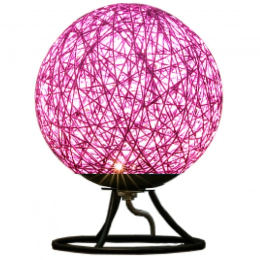 Светодиодый ночник из ротанга, 220В, 2Вт, 6 диодов, 3200K, 200Лм, 15*15*18см, фиолетовый