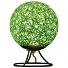 Светодиодный ночник из ротанга, 220В, 2Вт, 6 диодов, 3200K, 200Лм, 15*15*18см, зеленый