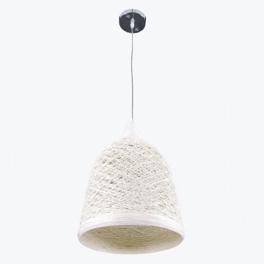 Светильник бытовой потолочный white, с плетеным абажуром