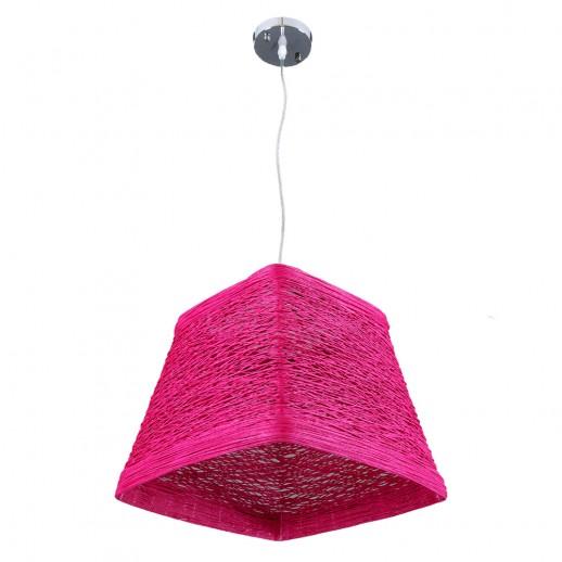 Светильник бытовой потолочный purple, с плетеным абажуром трапециевидной формы