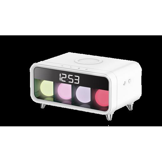 Декоративный светильник-ночник с беспроводной зарядкой и часами TL-150W
