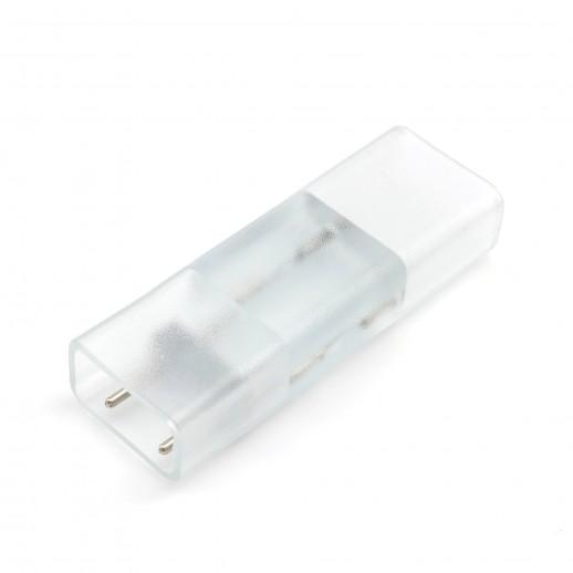 Коннектор ПВХ для прямого соединения отрезков одноцветного одностороннего светодиодного неона (10.5*18.5мм)