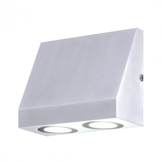 Светильник светодиодный, уличный, архитектурный, 2х3W, 3000K, IP44, мат.серебро, duwi