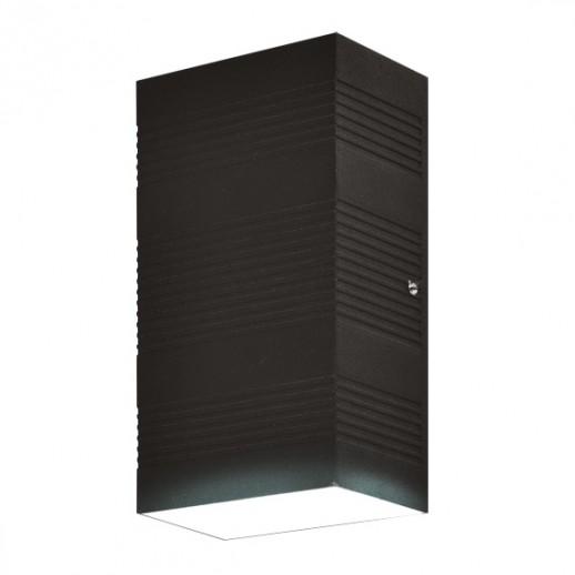 Светильник светодиодный, уличный, архитектурный, 2х5W, 3000K, IP44, мат.черный, duwi