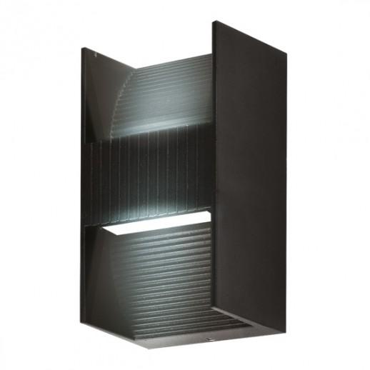 Светильник светодиодный, уличный, архитектурный, 2х2W, 3000K, IP44, мат.черный, duwi
