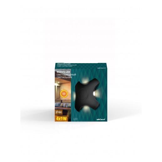 Светильник светодиодный, уличный, архитектурный, 4W, 3000K, IP44, мат.черный, duwi