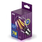 Лампа FILAMENT груша A60 E27 7W, 2700K, DECO Premium теплый свет