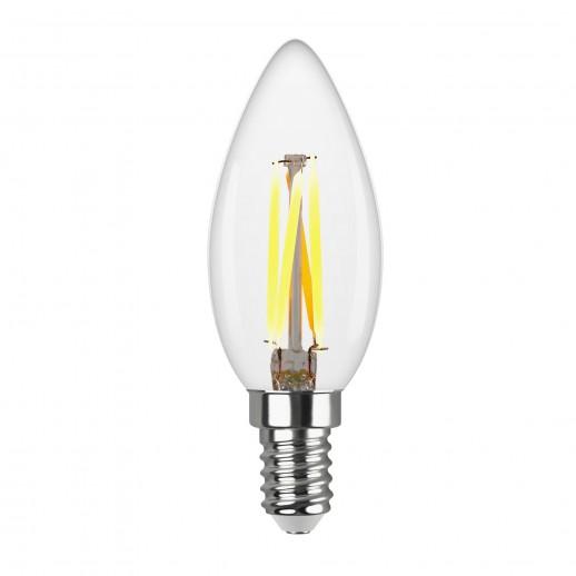 Лампа FILAMENT свеча С37 E14 5W, 2700K, DECO Premium теплый свет