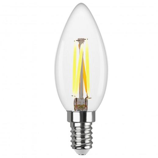 Лампа FILAMENT свеча С37 E14 5W, 4000K, DECO Premium холодный свет