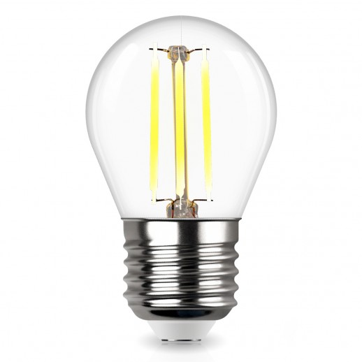 Лампа сд FILAMENT шарик G45 E27 5W, 2700K, DECO Premium, теплый свет, REV
