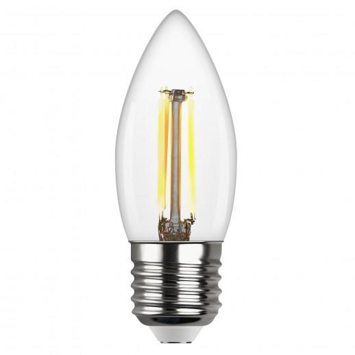 Лампа FILAMENT свеча C37 E27 5W, 2700K, DECO Premium теплый свет
