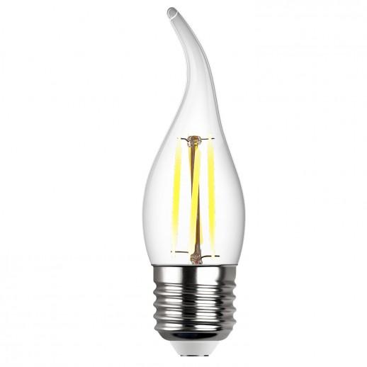 Лампа сд FILAMENT свеча на ветру FC37 E27 7W, 2700K, DECO Premium, теплый свет, REV