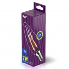 Лампа сд FILAMENT свеча витая TC37 E14 7W, 2700K, DECO Premium, теплый свет, REV