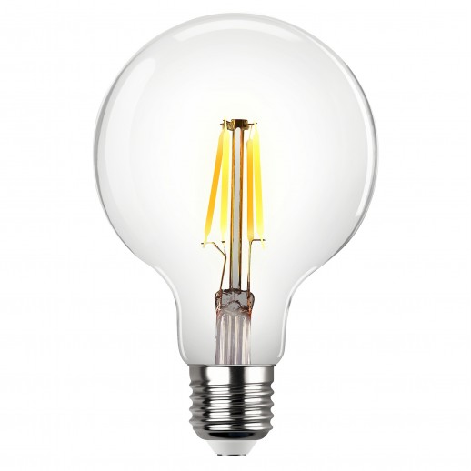 Лампа FILAMENT VINTAGE шар G95 E27 5W, 2700K, DECO Premium, теплый свет