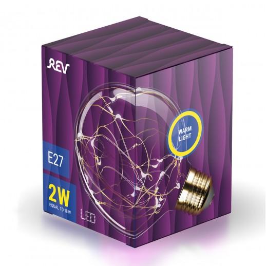 Лампа сд VINTAGE Copper Wire шар G95 E27, 2700K, DECO Premium, теплый свет