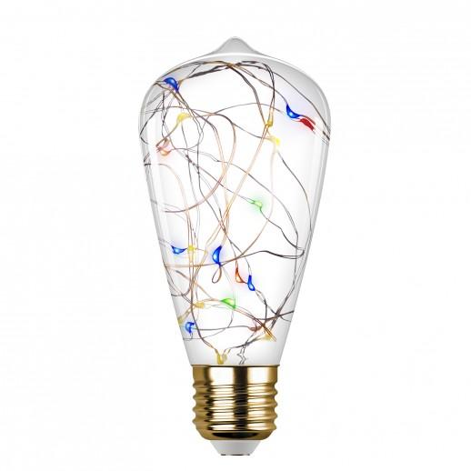 Лампа сд VINTAGE RGB Starry ST64 E27, DECO Premium