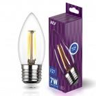 Лампа сд FILAMENT свеча С37 E27 7W, 4000K, DECO Premium, холодный свет, REV