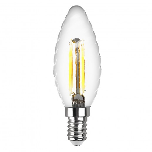 Лампа сд FILAMENT свеча витая TC37 E14 5W, 4000K, DECO Premium, нейтральный свет