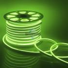 10-74 Светодиодный НЕОН, 220В, 8Вт/м,SMD 2835,108д/м, IP65, 200 Лм/м,кат.50 м,10.5*18.5мм, зеленый