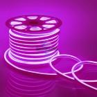 10-75 Светодиодный НЕОН, 220В, 8Вт/м,SMD 2835,108д/м, IP65, 200 Лм/м,кат.50 м,10.5*18.5мм, розовый