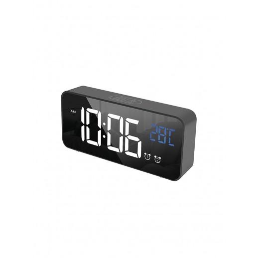 Часы электронные, CL-B80WBL, ARTSTYLE, черные, со встр. аккум., инд. - бел./син.