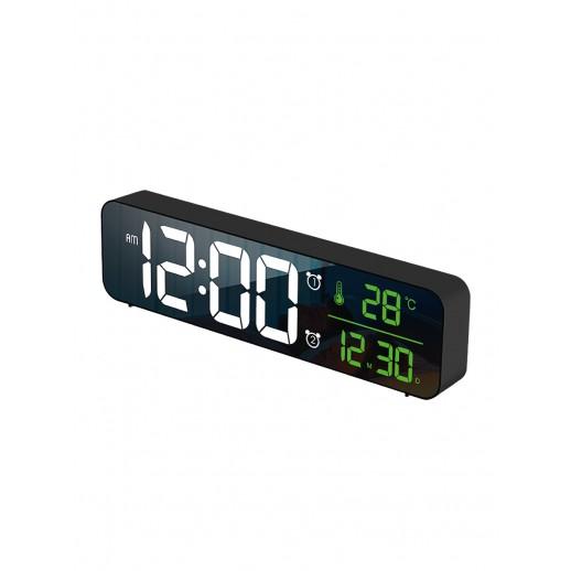 Часы электронные, CL-B81WGR, ARTSTYLE, черные, инд. - бел./зел.