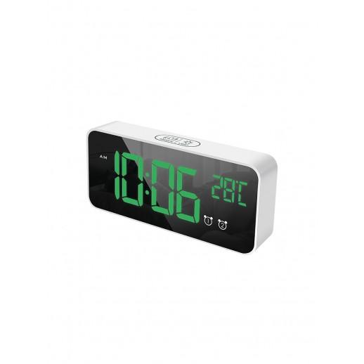 Часы электронные, CL-W80GR, ARTSTYLE, белые, со встр. аккум., инд. - зел.