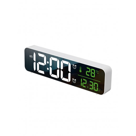 Часы электронные, CL-W81WGR, ARTSTYLE, белые, инд. - бел./зел.