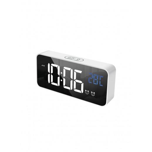 Часы электронные, CL-S80WBL, ARTSTYLE, серебристые, со встр. аккум., инд. - бел./син.