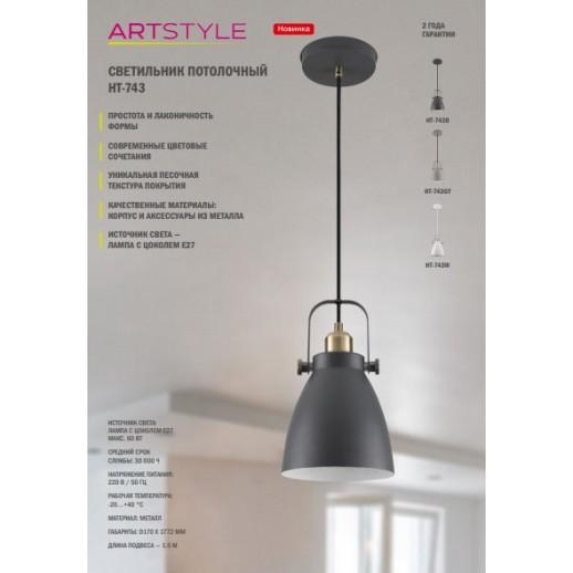 Светильник декоративный ArtStyle HT-743GY