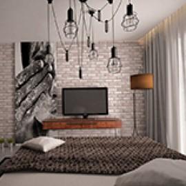 Люстры в спальню в стиле лофт (LOFT)