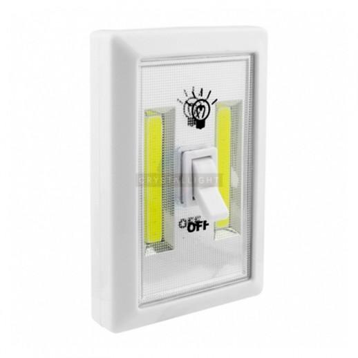 Автономный светодиодный светильник пушлайт СТАРТ PL-2LED-COB белый 10/100