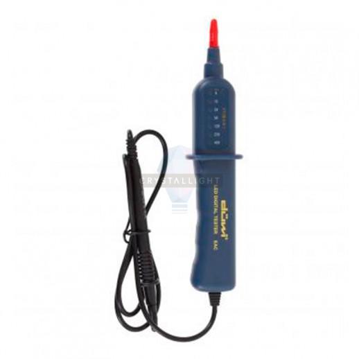 Тестер для ступенчатой индикации наличия и величины напряжения в цепях электропитания, DIY, блистер, duwi